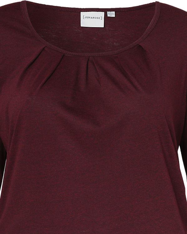 JUNAROSE 3/4-Arm-Shirt dunkelrot