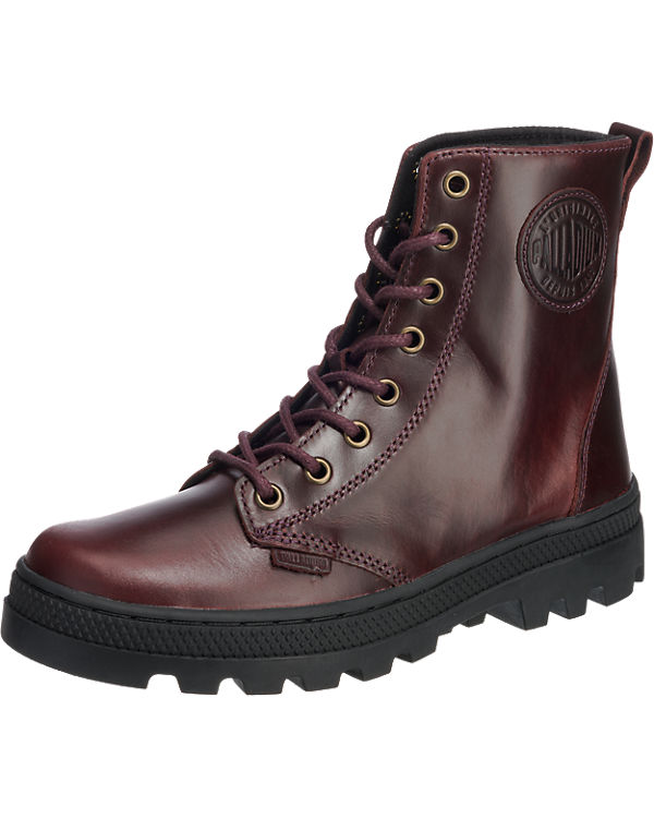 Palladium Pallabosse Off Lea Stiefeletten bordeaux