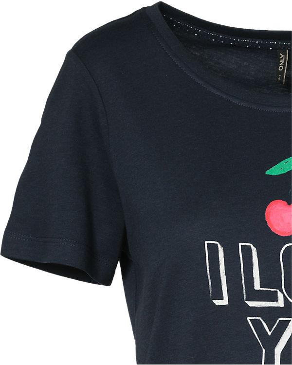 ONLY T-Shirt dunkelblau
