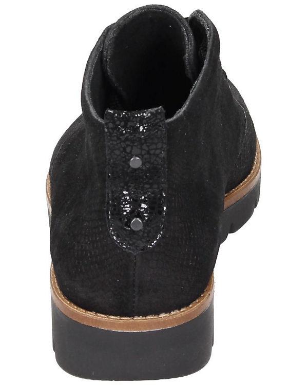 Comfortabel Damen Stiefelette schwarz