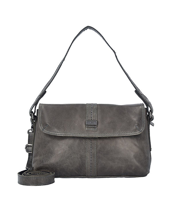 Spikes and Sparrow Spikes and Sparrow Bronco Schultertasche Leder 27 cm grau