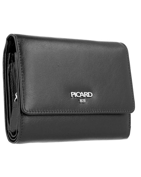 PICARD PICARD Bingo Geldbörse Damen Leder 12,5 cm schwarz