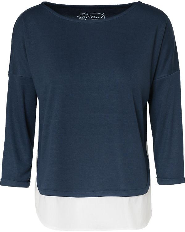 Mavi Langarmshirt blau