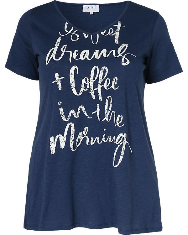 Zizzi T-Shirt blau