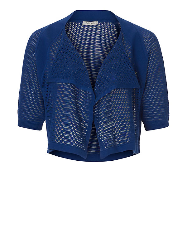 Betty Barclay Strickbolero blau