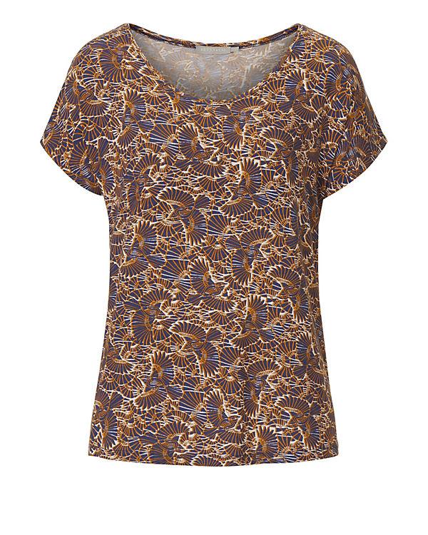 Betty & Co Shirt mit Vogelmuster blau-kombi