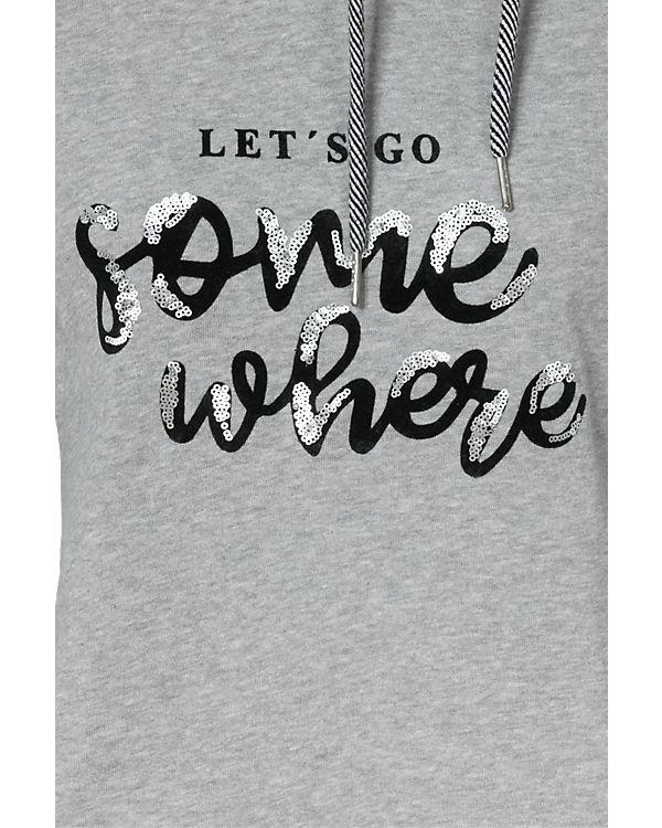 TOM TAILOR Sweatshirt grau