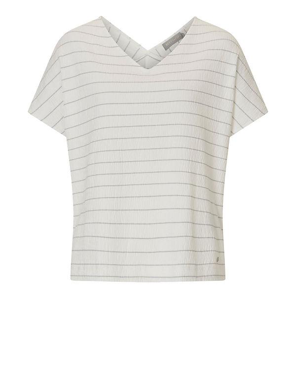 Betty & Co T-Shirt weiß/grau