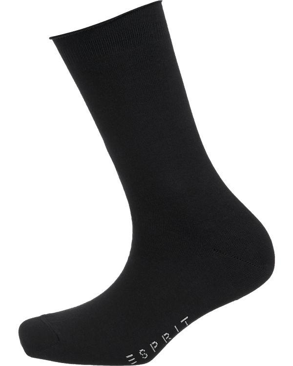 ESPRIT 2 Paar Socken schwarz