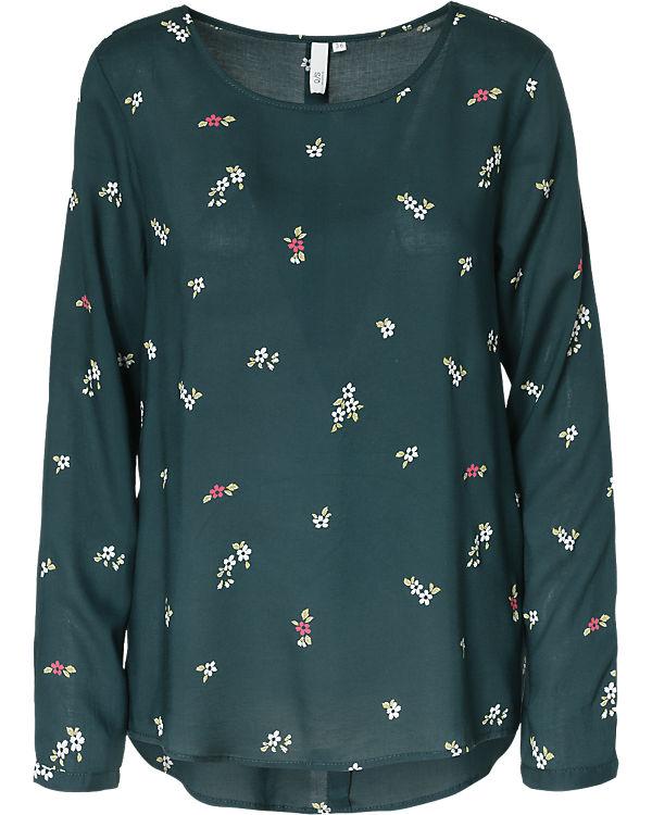 Q/S Bluse dunkelgrün