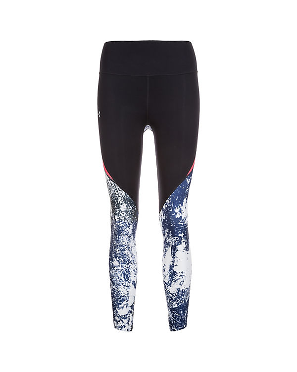Under Armour Lauftight HeatGear Run True Printed Crop schwarz-kombi