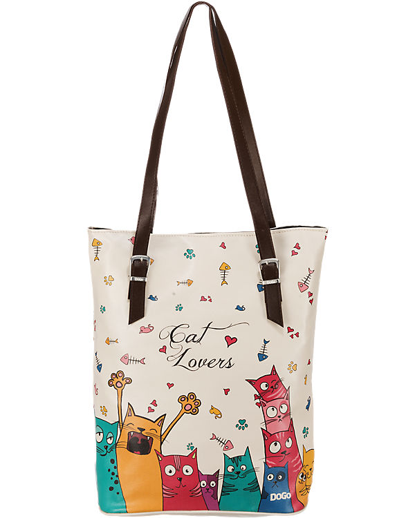 Dogo Shoes Dogo Shoes Dogo Shoes Tall Bag Cat Lovers Shopper mehrfarbig
