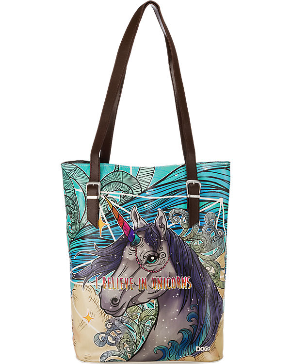 Dogo Shoes Dogo Shoes Dogo Shoes Tall Bag I Believe In Unicorns Umhängetasche mehrfarbig
