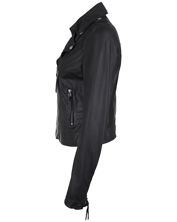 Freaky Nation Lederjacke Blow Away schwarz
