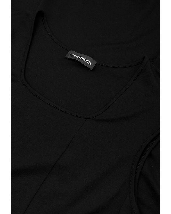 Doris Streich Jerseykleid schwarz