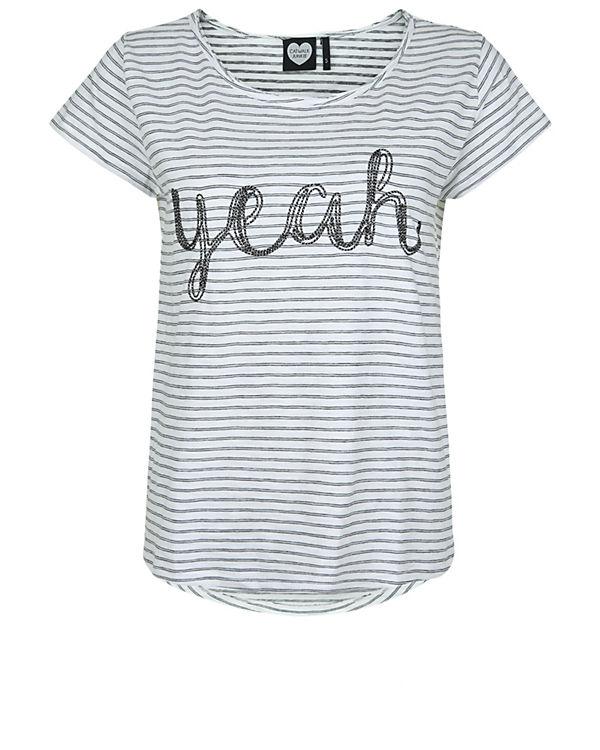CATWALK JUNKIE T-Shirt Shine Yeah weiß-kombi