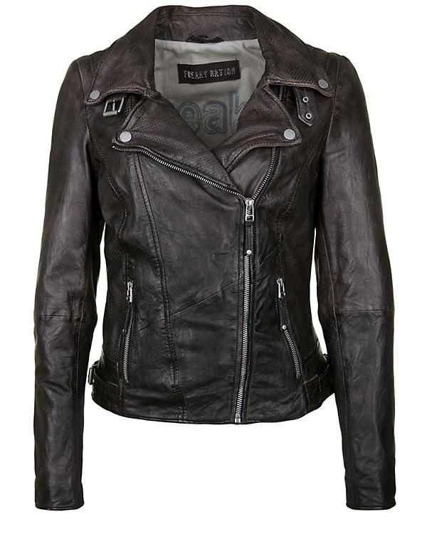 Freaky Nation Lederjacke New Love schwarz