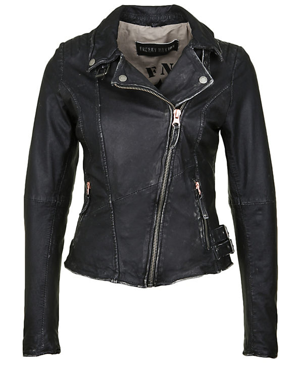 Freaky Nation Lederjacke United Lederjacken schwarz
