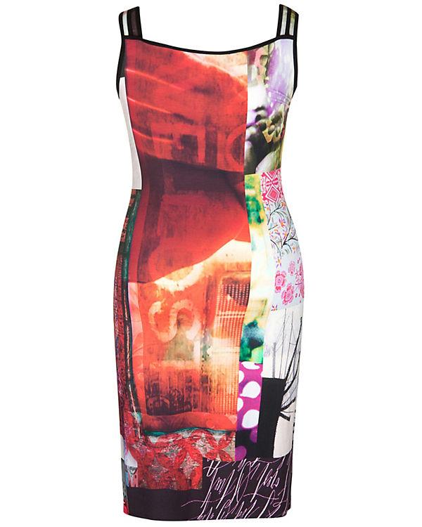 Doris Streich Jerseykleid rot-kombi