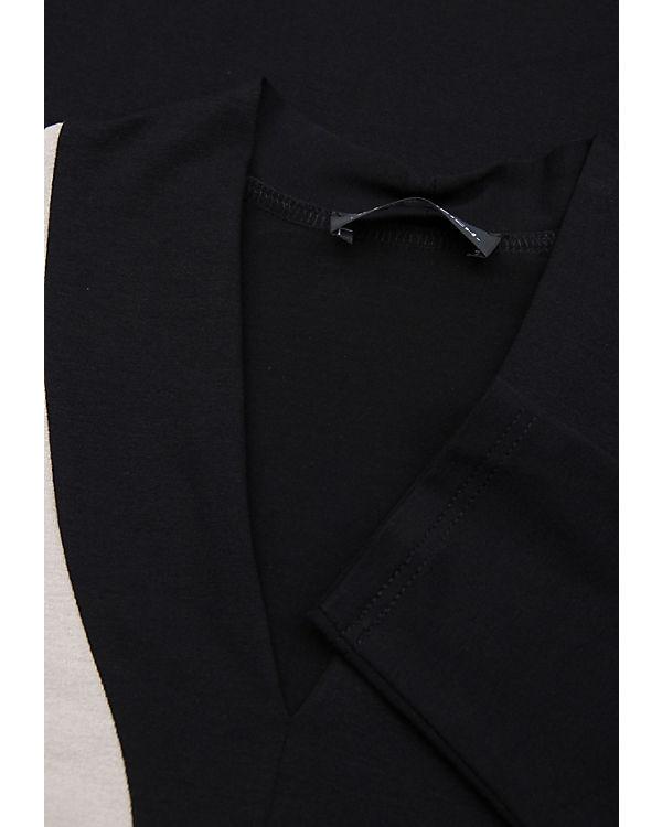 Doris Streich Langarmshirt schwarz/beige