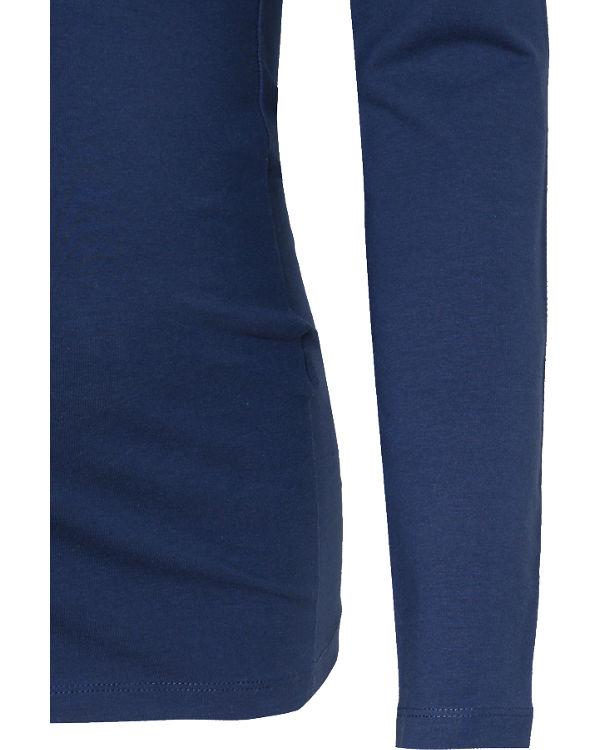mamalicious Stilllangarmshirt MLLEA, Organic Cotton blau