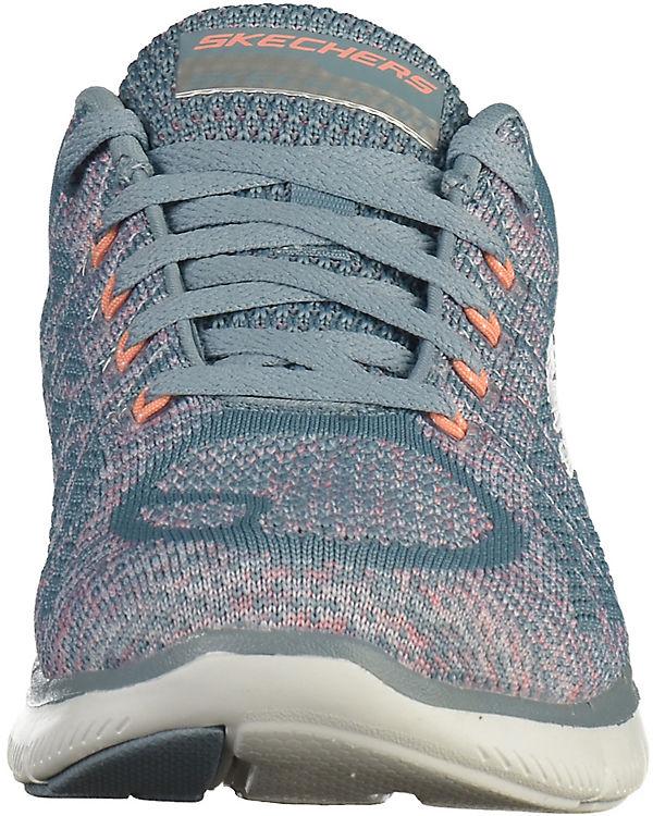 SKECHERS Sneakers grau-kombi