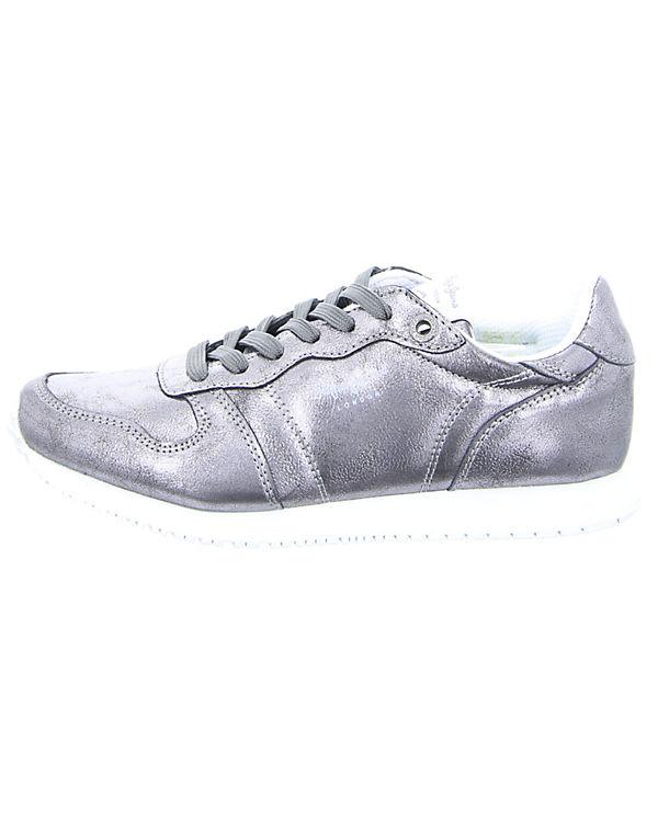 Pepe Jeans Sneakers Damen Sneaker Gable Plain silber