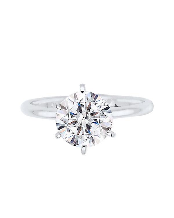 Elli Elli Ring 925 Sterling Silber Swarovski® Kristalle weiß