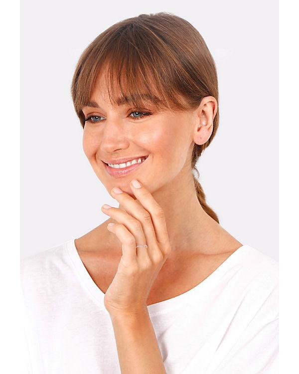 Elli Elli Ring V-Form Geo Swarovski® Kristall 925 Sterling Silber rosa