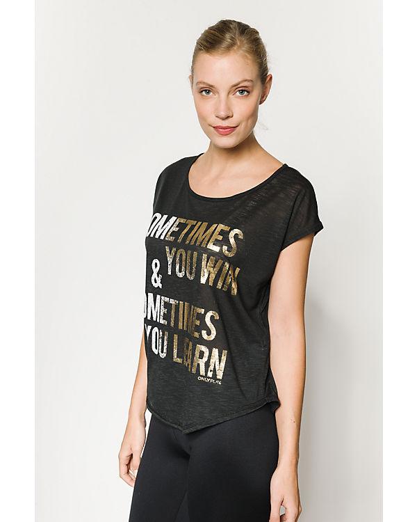 Only Play T-Shirt schwarz/weiß