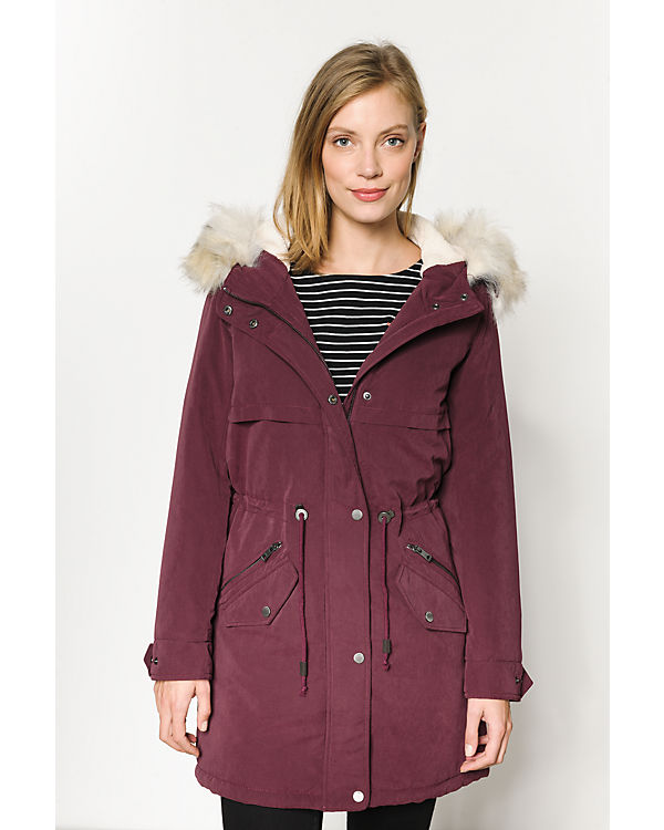 ONLY Parka weinrot