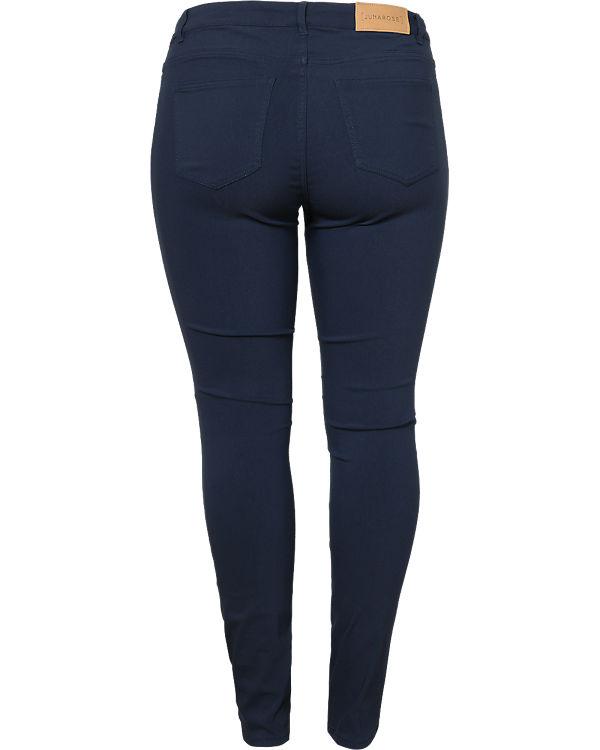 JUNAROSE Jeans Slim dunkelblau