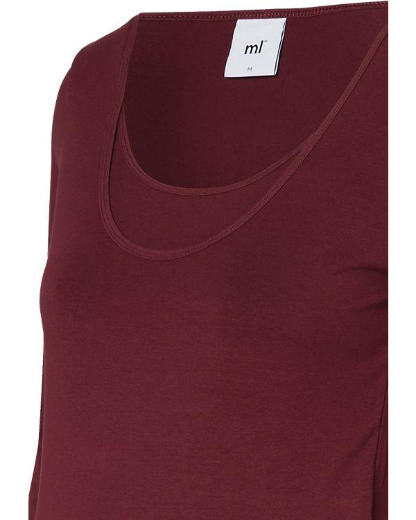 mamalicious Stilllangarmshirts Doppelpack MLLEA, Organic Cotton rot