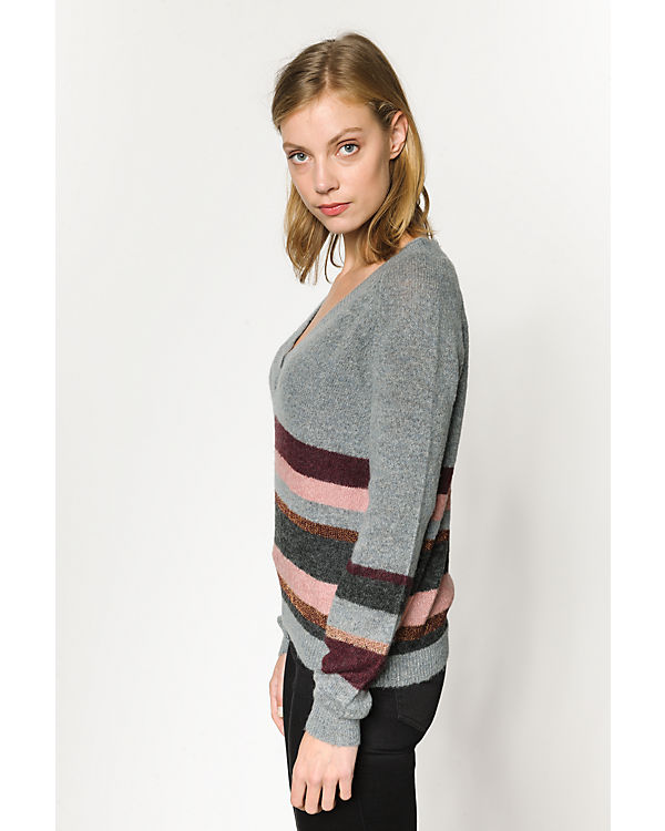 pieces Pullover grau