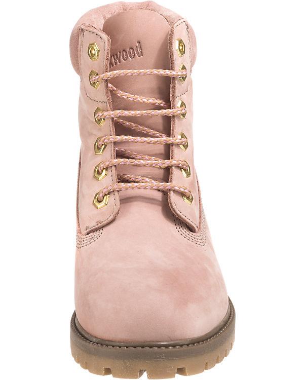 Schnürstiefeletten rosa
