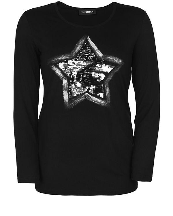 Doris Streich Langarmshirt schwarz