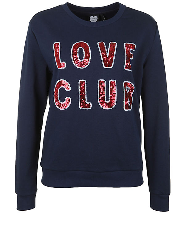CATWALK JUNKIE Sweatshirt LOVE CLUB dunkelblau