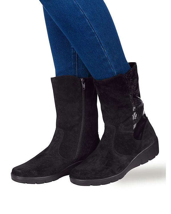 Klassische Stiefeletten schwarz-kombi