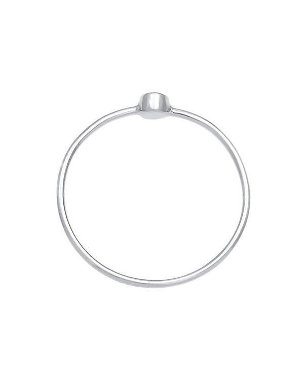 Elli Elli Ring Solitär Stapelring Swarovski® Kristall 925 Silber silber