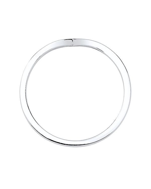 Elli Elli Ring Geo V-Stapelring 925er Sterling Silber silber