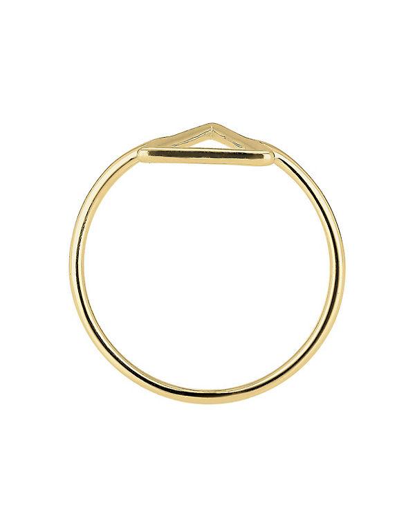Elli PREMIUM Elli PREMIUM Ring Dreieck Geo 375 Gelbgold gold