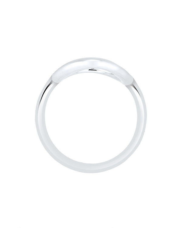 Elli Elli Ring Kreis Rund Geo Statement 925 Sterling Silber silber