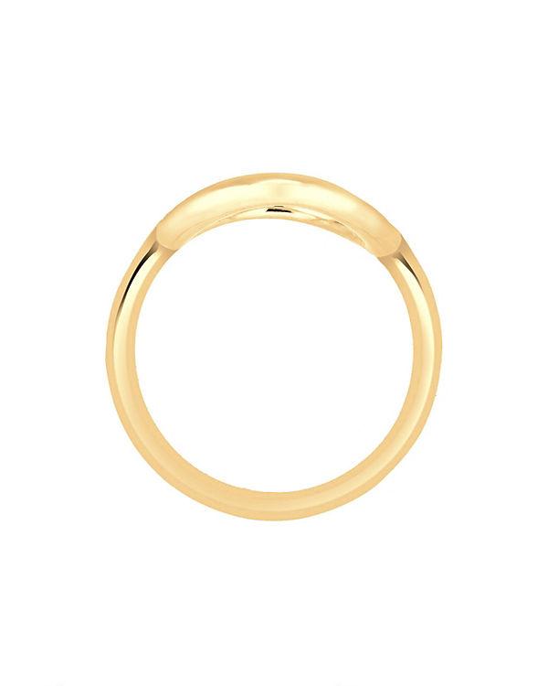 Elli Elli Ring Kreis Rund Geo Statement 925 Sterling Silber gold