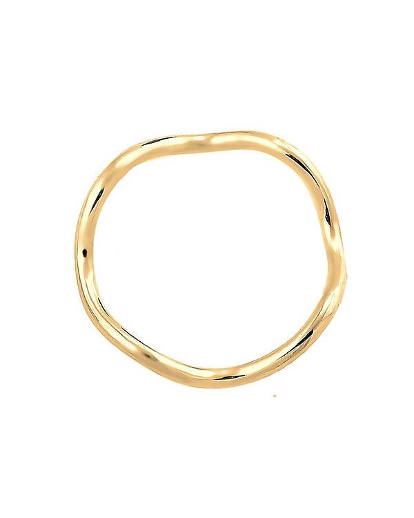 Elli Elli Ring Wellen Minimal Geo 925 Sterling Silber gold