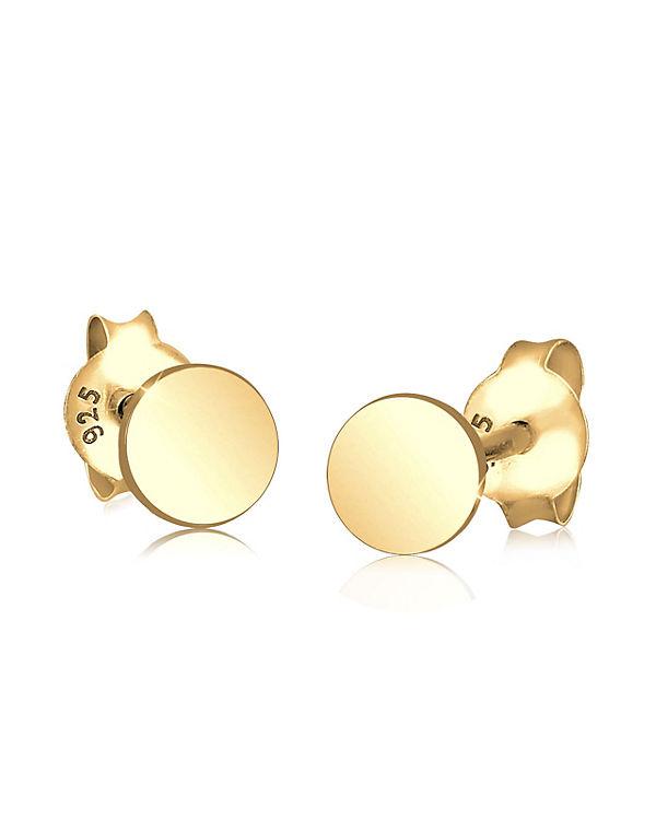 Elli Ohrringe Kreis Basic Geo Trend 925 Silber gold