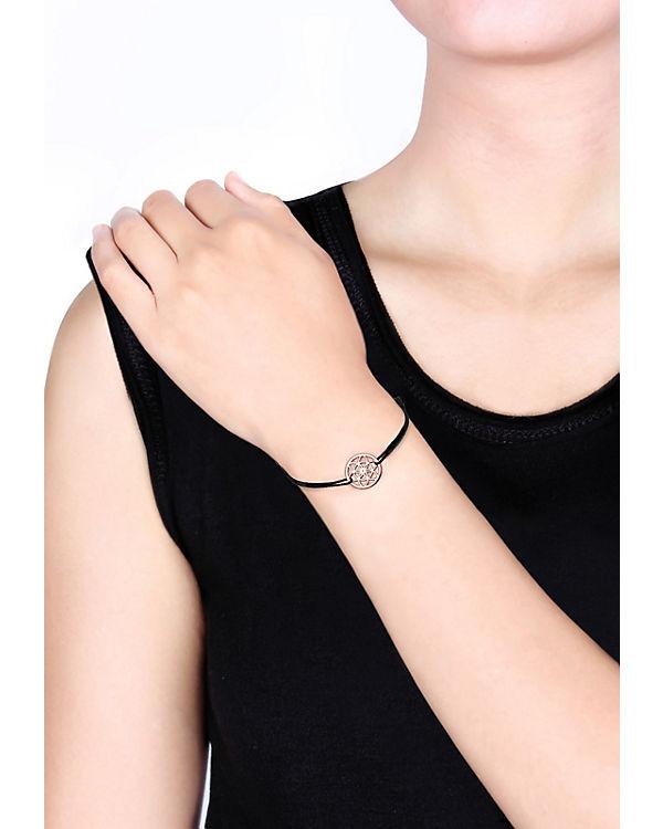 Elli Armband Ornament Lebensblume Floral 925 Silber rosa