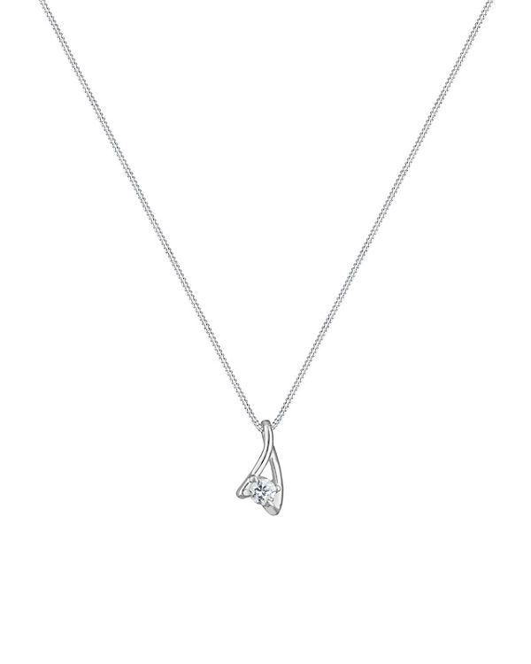 Elli Halskette Zirkonia Klassisch 925 Sterling Silber silber