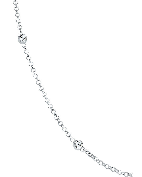 Elli Halskette Solitär Basic Swarovski® Kristalle 925 Silber silber