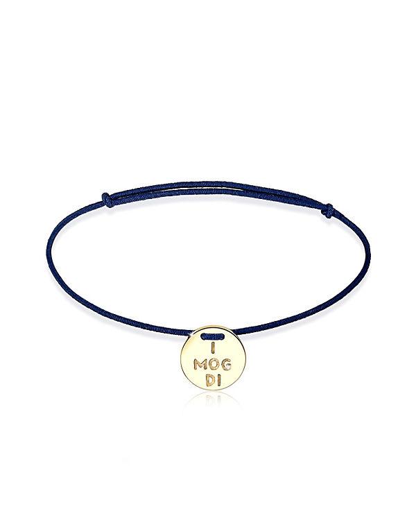 """Elli Armband Wiesn """"I mog di"""" Oktoberfest 925 Sterling Silber blau"""