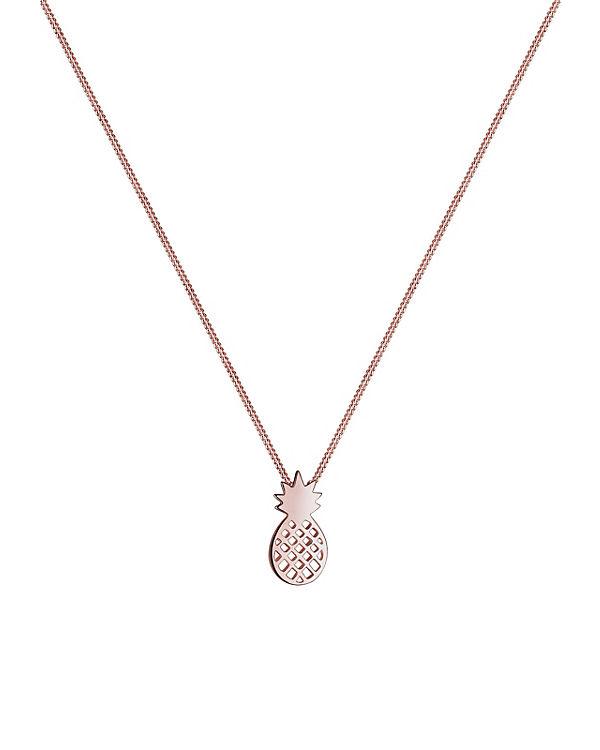 Elli Halskette Ananas Frucht 925 Sterling Silber rosegold